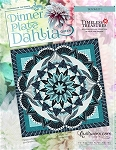 Dinner Plate Dahlia paper piecing pattern by Quiltworx Wall, Queen or replacement papers