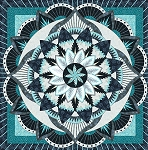 Quilt Kit for Dinner Plate Dahlia by Judy Niemeyer / Quiltworx  ***cover color replica or custom colorway***