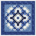 Quilt Kit for Arizona Cactus by Quiltworx in Bohemian Blues REPLICA * or we will custom color your quilt in Quiltster