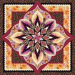 Quilt Kit for Crimson Poppy by Quiltworx in Kaffe Fassett  Queen 99x99 using Braided Rope Expansion  **PRE-ORDER Shipping November 2020**