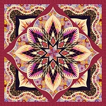 Quilt Kit for Crimson Poppy by Quiltworx  Queen 99x99 using Flying Geese Expansion  **Custom Colorway**