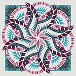Coral Reef Technique of the Month ( TOM ) Quilt Kit or Pattern - Wall 80x80 - by Quiltworx ***Pattern and/or Kit will ship in January 2021***