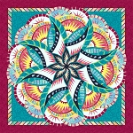 Coral Reef Technique of the Month ( TOM ) Quilt Kit or Pattern - Queen 99x99 - by Quiltworx - Colorway called Cayman Dreams ***Pattern and/or Kit will ship in January 2021***
