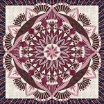 Quilt Kit or pattern for Dinner Plate Dahlia by Judy Niemeyer / Quiltworx in Star Anise