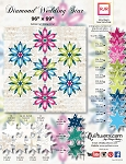 Quilt Kit  or pattern for Diamond Wedding Star by Judy Niemeyer / Quiltworx in RJR Fabrics Shiny Objects