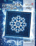 Quilt Kit or Pattern for Diamonds in Bloom custom colored in Quiltster in  your preferred colors -  by Judy Niemeyer / Quiltworx 100x100