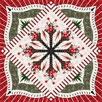 Quilt Kit for Poinsettia Bouquet with Princess Tiara expansion to 99x99 by Judy Niemeyer / Quiltworx