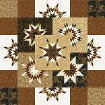 Goodnight Star Quilt Kit or  Paper Piecing Pattern by Quiltworx