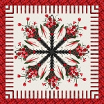 Quilt Kit for Poinsettia Bouquet by Judy Niemeyer / Quiltworx