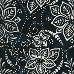 Timeless Treasures Tonga Batik from the Titanium collection by Judy & Judel Niemeyer - B6874 Ink