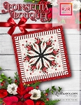 Poinsettia Bouquet Paper Piecing Pattern by Quiltworx