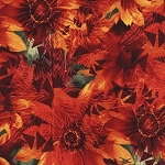 Red Daisy From Timeless Treasures by Judy & Judel Niemeyer Wildflowers Collection