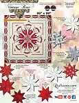 Quilt Kit for Vintage Rose Queen or Wall custom designed for you in Quiltster