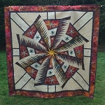 Completed quilt 77 x 77